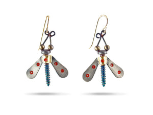 Load image into Gallery viewer, Winged Nut Earrings - Chickenscratch
