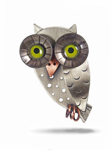 Wise Owl Pin - Chickenscratch
