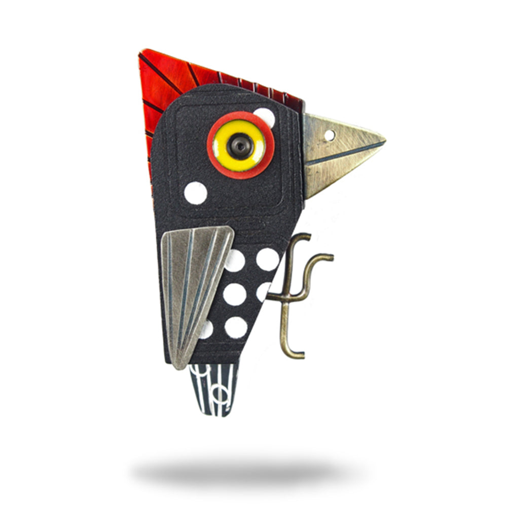 Spotted Woodpecker Pin - Chickenscratch