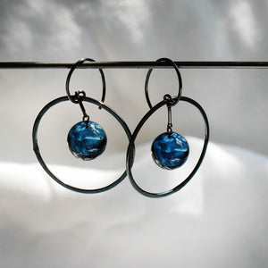 Globe Pendulum Earrings - Krista Bermeo