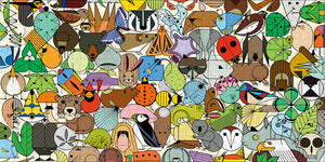 Beguiled by the Wild puzzle by Charley Harper