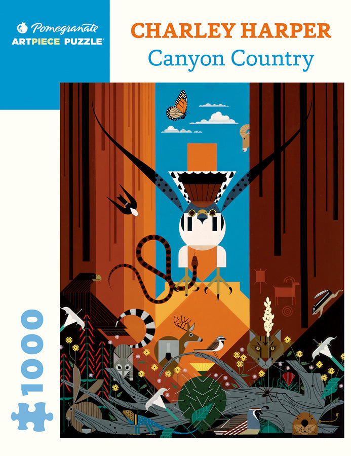 Canyon Country puzzle by Charley Harper