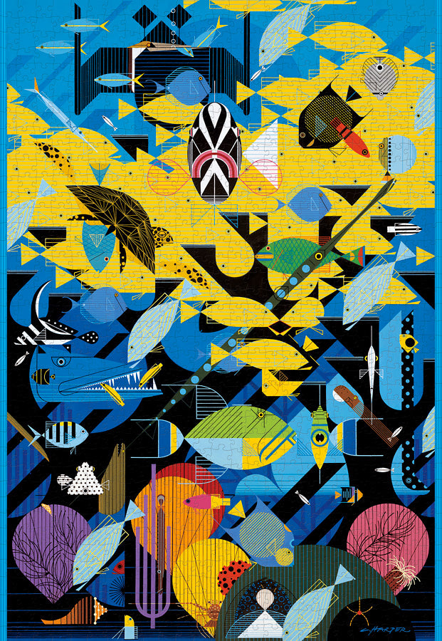 Load image into Gallery viewer, The Coral Reef Puzzle by Charley Harper