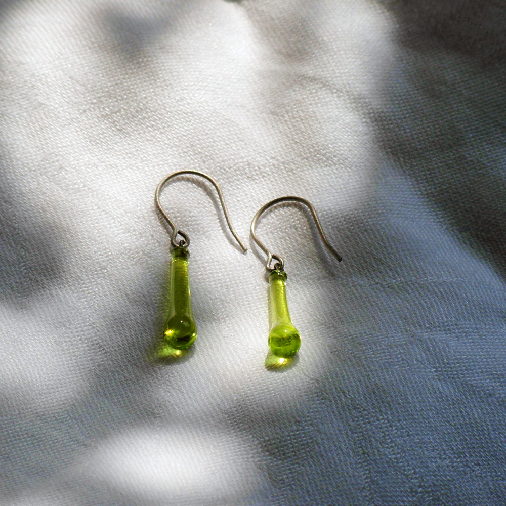 Load image into Gallery viewer, Lime Green Drop Earrings - Krista Bermeo