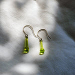 Lime Green Drop Earrings - Krista Bermeo