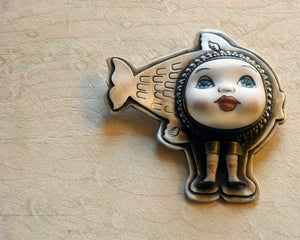 Mermaid Doll Pin/Pendant - Melinda Risk