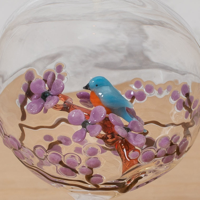 Bluebird Glass Ornament - Steve Scherer