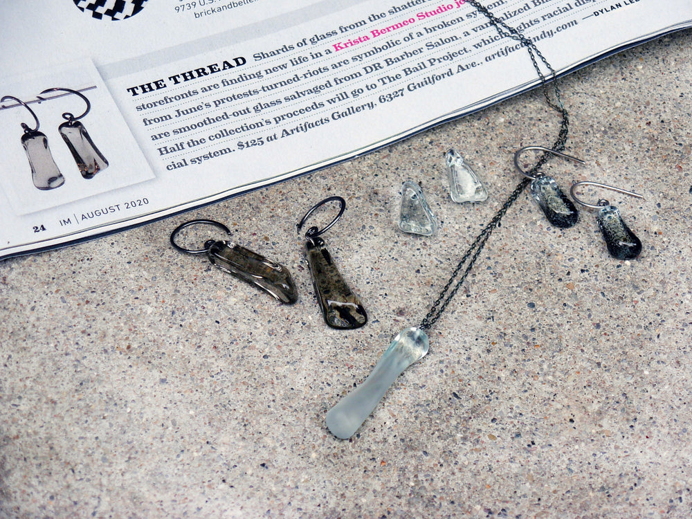 Protest Glass Necklace - Krista Bermeo