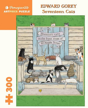 Load image into Gallery viewer, Seventeen Cats puzzle by Charley Harper