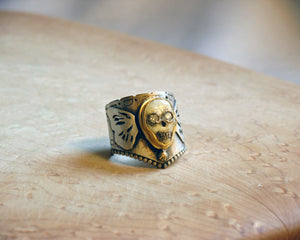 Skull Butterfly Ring - Melinda Risk