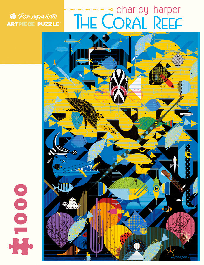 The Coral Reef Puzzle by Charley Harper