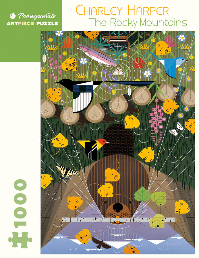 The Rocky Mountains puzzle by Charley Harper