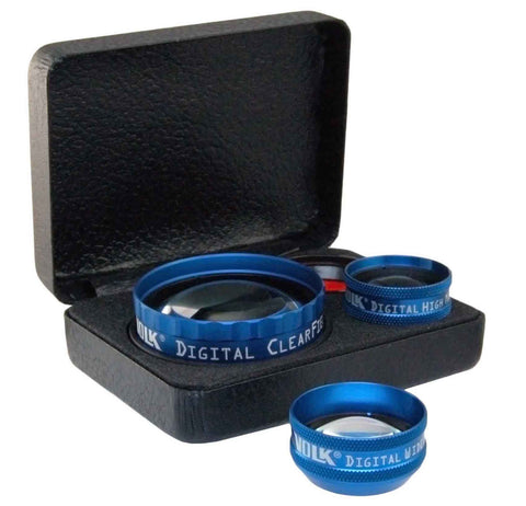 Digital Lens Set with Digital Clear Field Digital Clear Mag Digital High Mag Digital Wide Field Digital 1.0X Imaging Lenses | Volk