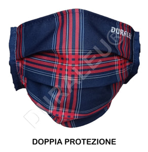 Mascherina flash 2 Adulto TARTAN BLU
