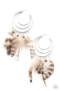 Freely Free Bird - brown - Paparazzi earrings