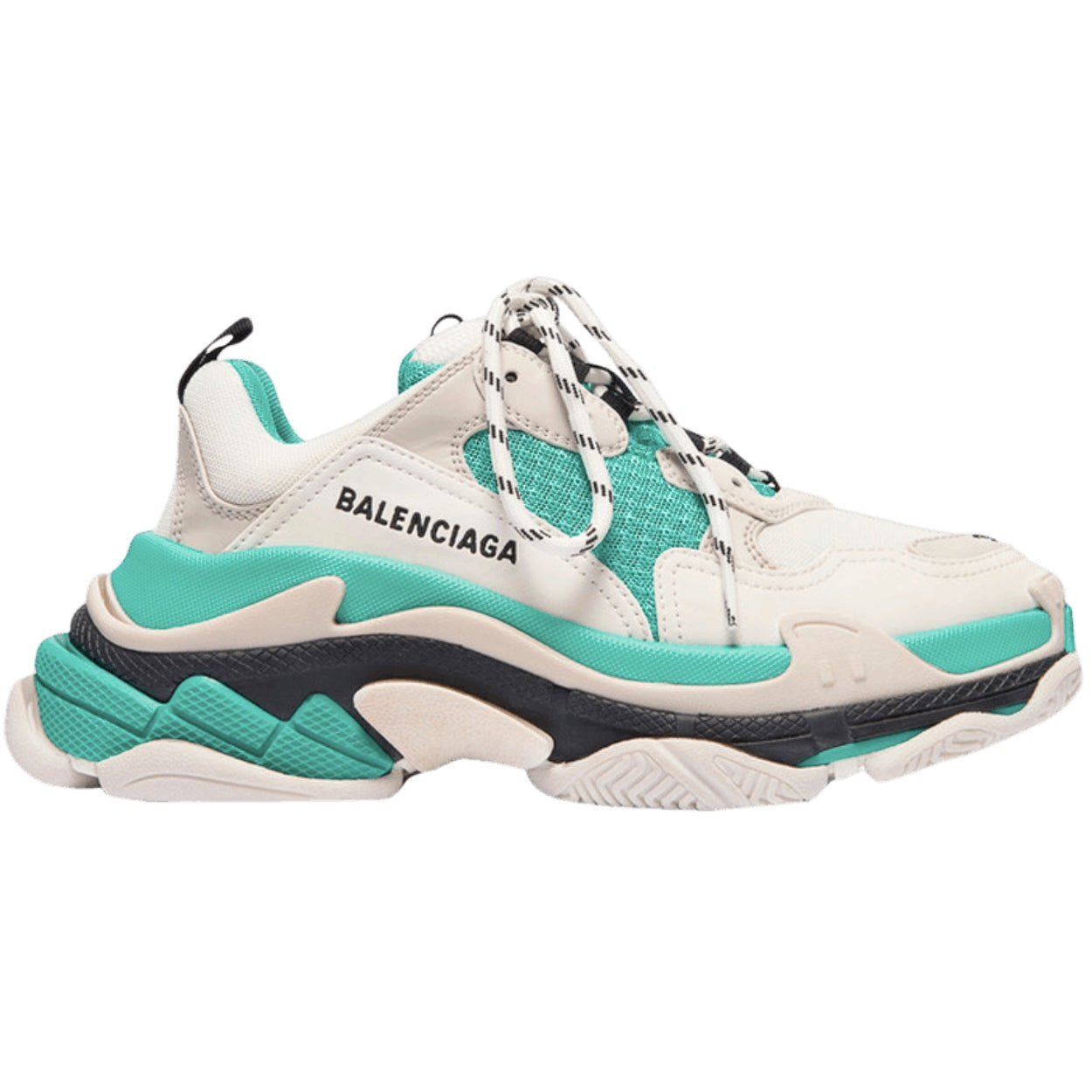 Balenciaga Triple S 'White Green' - After Burn