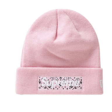 Supreme New Era Box Logo Beanie (FW19) Pink - After Burn