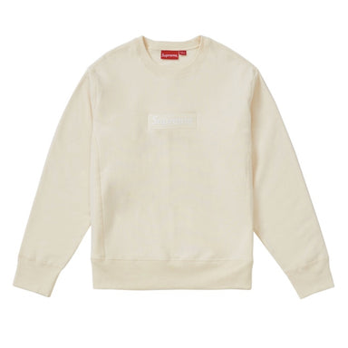 Supreme Box Logo Crewneck (FW18) Natural - After Burn