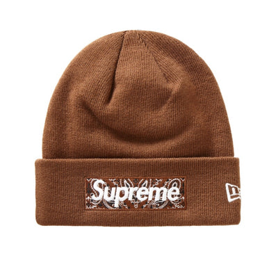 Supreme New Era Box Logo Beanie (FW19) Dark Brown - After Burn