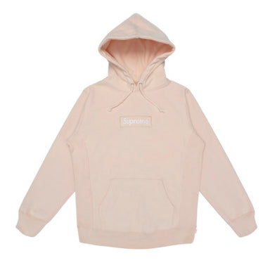 Supreme Box Logo Hoodie Peach - After Burn
