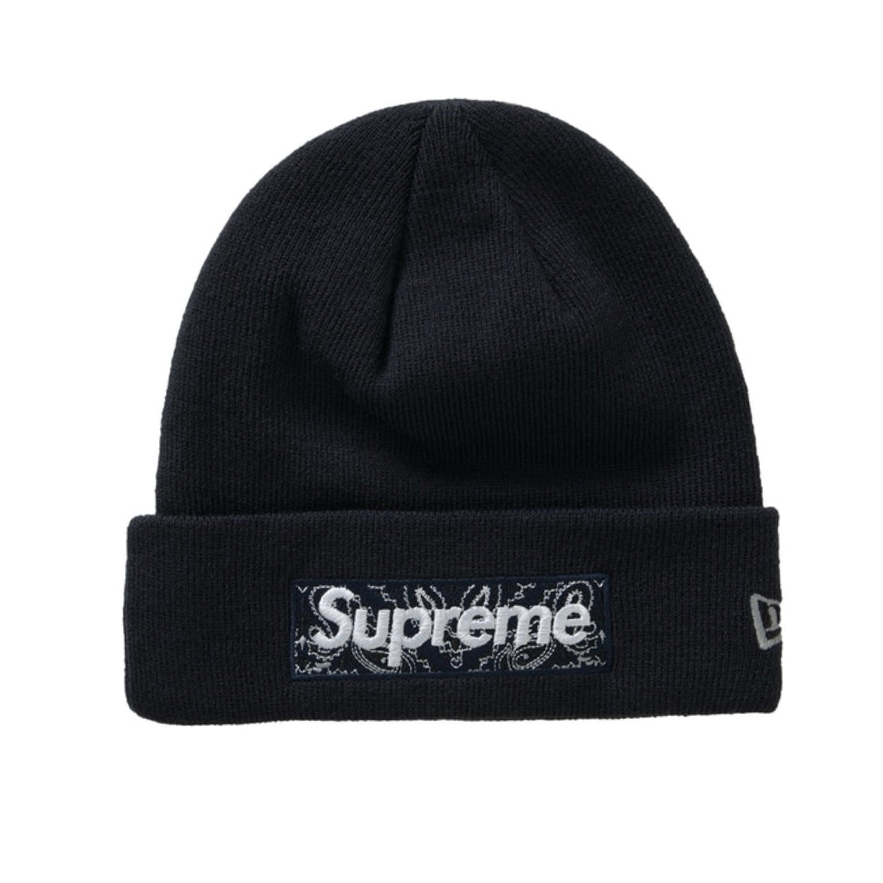 Supreme New Era Box Logo Beanie (FW19) Black - After Burn