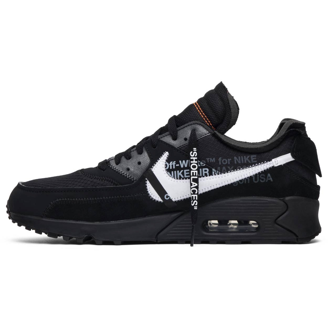 Air Max 90 OFF-WHITE Black - After Burn