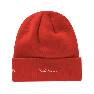 Supreme New Era Box Logo Beanie (FW19) Red - After Burn