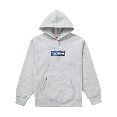 Supreme Bandana Box Logo Hooded Sweatshirt (Grey)