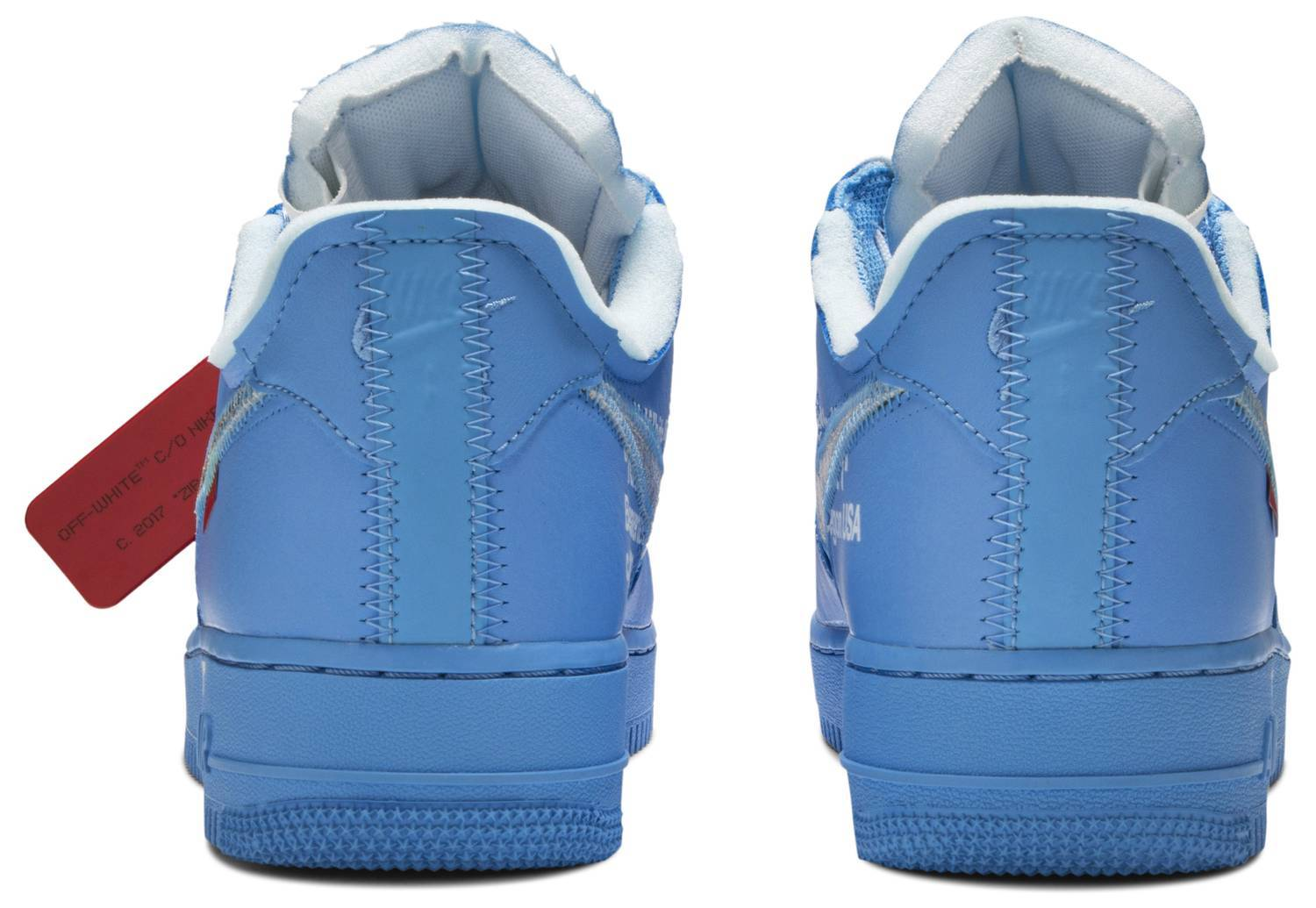 Nike Air Force 1 Low Off-White MCA University Blue - After Burn