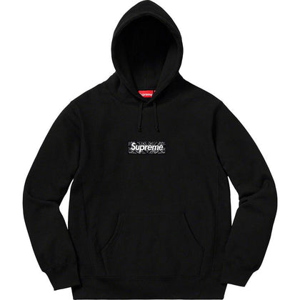 Supreme Bandana Box Logo Hooded Sweatshirt (Black) - After Burn