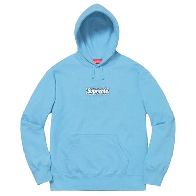 Supreme Bandana Box Logo Hooded Sweatshirt (Light Blue) - After Burn