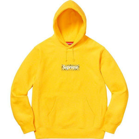Supreme Bandana Box Logo Hooded Sweatshirt (Yellow) - After Burn