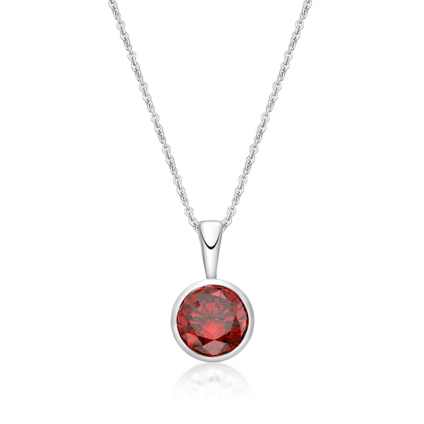 Sterling Silver January Birthstone Pendant and Chain