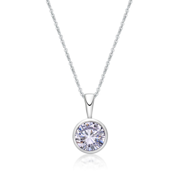 Sterling Silver April Birthstone Pendant and Chain
