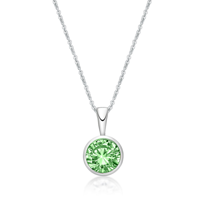 Sterling Silver August Birthstone Pendant and Chain