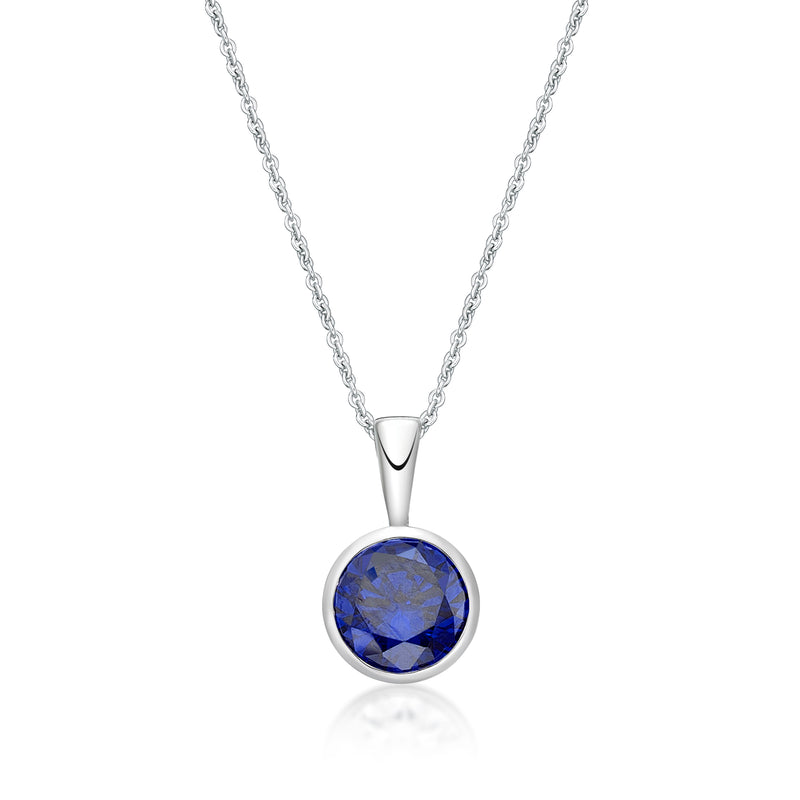 Sterling Silver February Birthstone Pendant and Chain