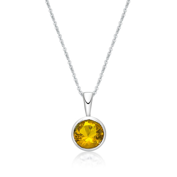 Sterling Silver November Birthstone Pendant and Chain