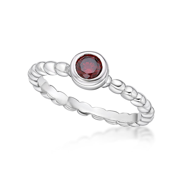 Sterling Silver January Birthstone ring