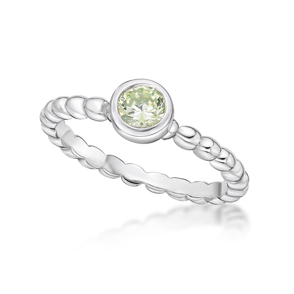 Sterling Silver August Birthstone Ring