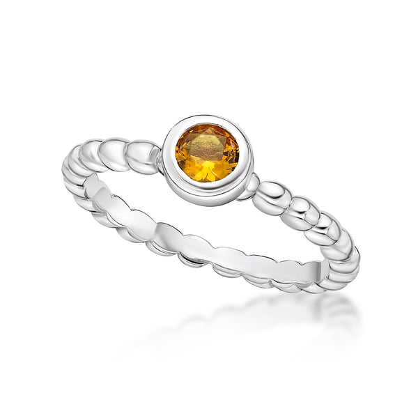 Sterling Silver November Birthstone Ring