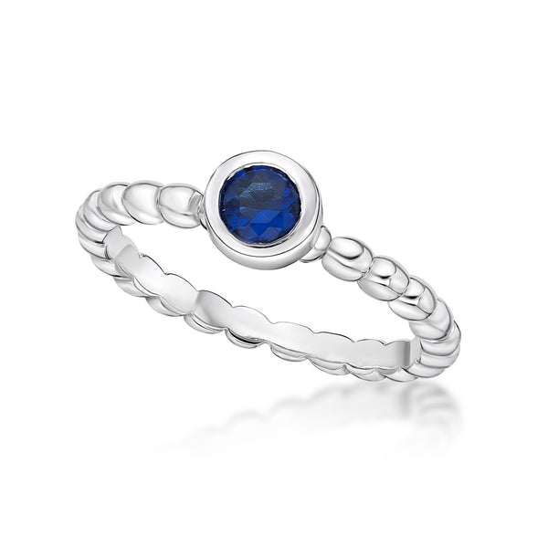 Sterling Silver September Birthstone Ring