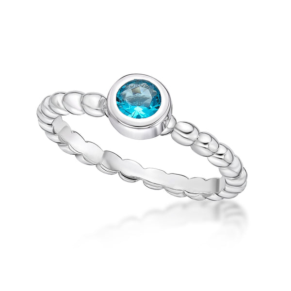 Sterling Silver December Birthstone Ring