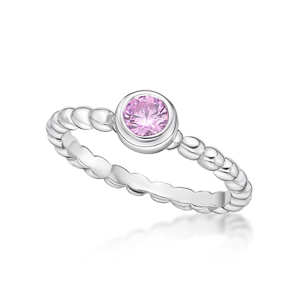 Sterling Silver October Birthstone Ring