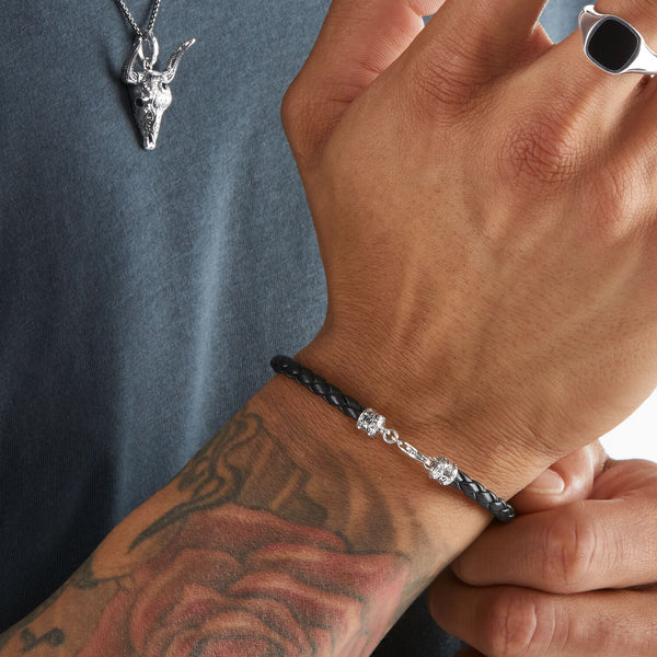 Thomas Sabo Leather Bracelet Black