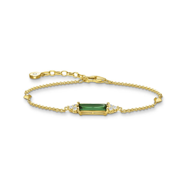 Thomas Sabo Bracelet Green Stone Gold