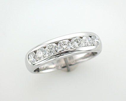 18ct white gold channel set 1 carat Diamond Ring