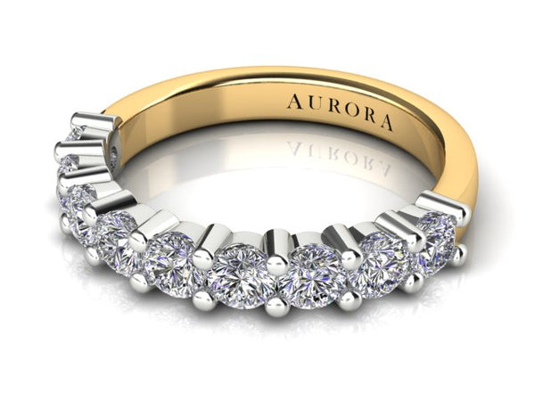 18ct yellow 1 carat Aurora Diamond Wedding Band