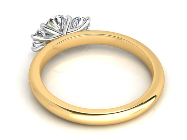 18ct yellow gold Aurora Diamond Trilogy Engagement ring TDW: .58pts