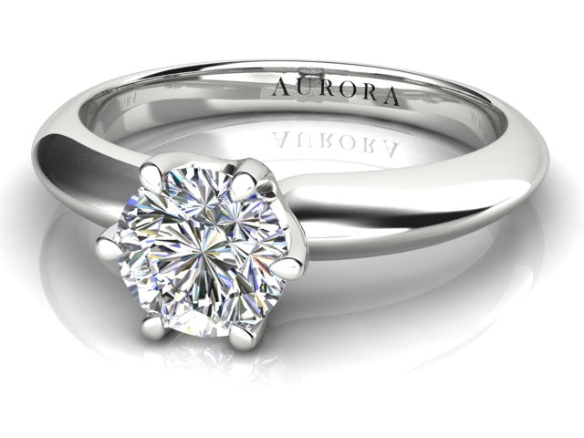 18ct white gold 1.02 carat Aurora Diamond Solitaire Engagement Ring