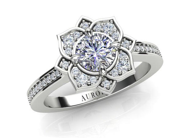 18ct white gold AURORA  .71pt TDW Engagement ring